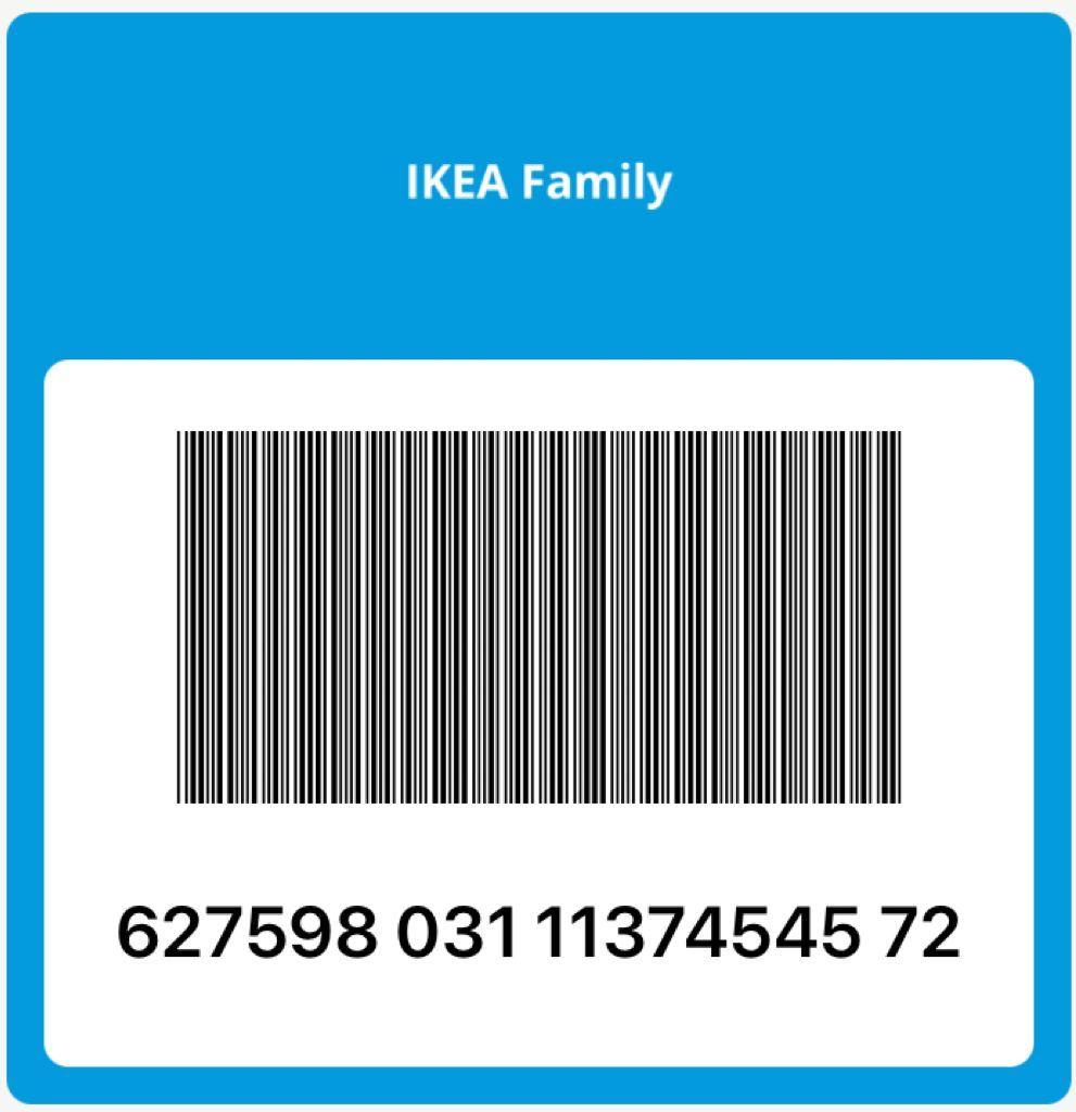 номер карты Ikea Family